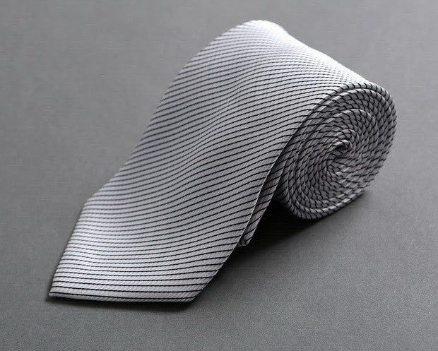 Shimmering Silver Classic Neck Tie