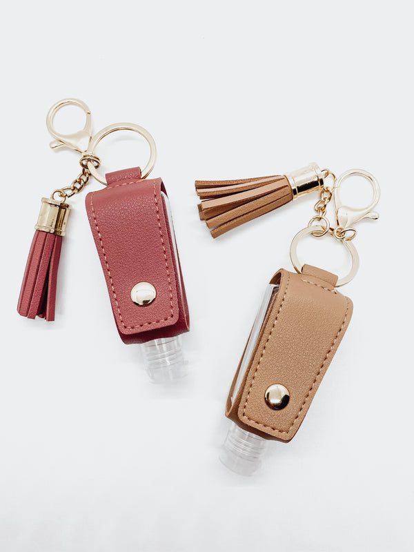 Leather Keychain - Sanitizer Holder Keychain | JB Essentials