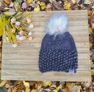 Ready to Ship - Gray Tweed Lola Beanie