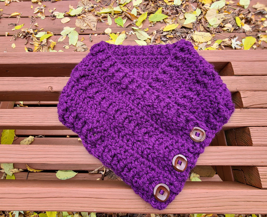 Ready to Ship - Purple Button Cowl