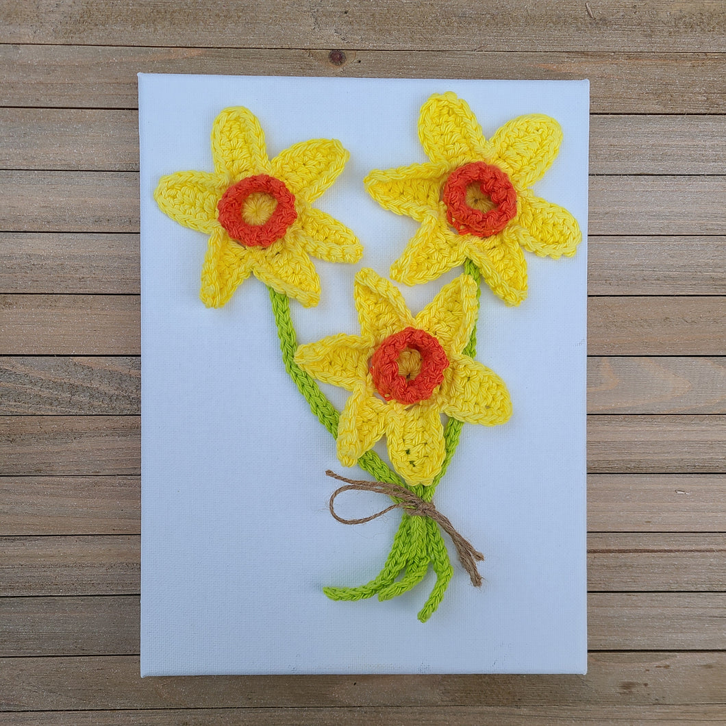 Ready to Ship - Daffodil Wall Hanging