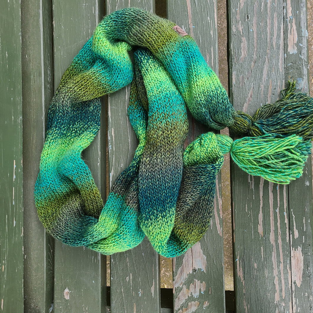 Ready to Ship - Evergreen Tassel Scarf