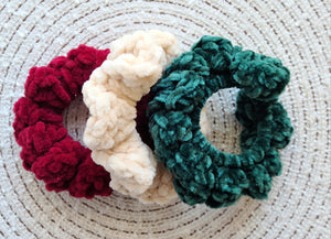 Ready to Ship - Velvet Scrunchies - Holiday Pack