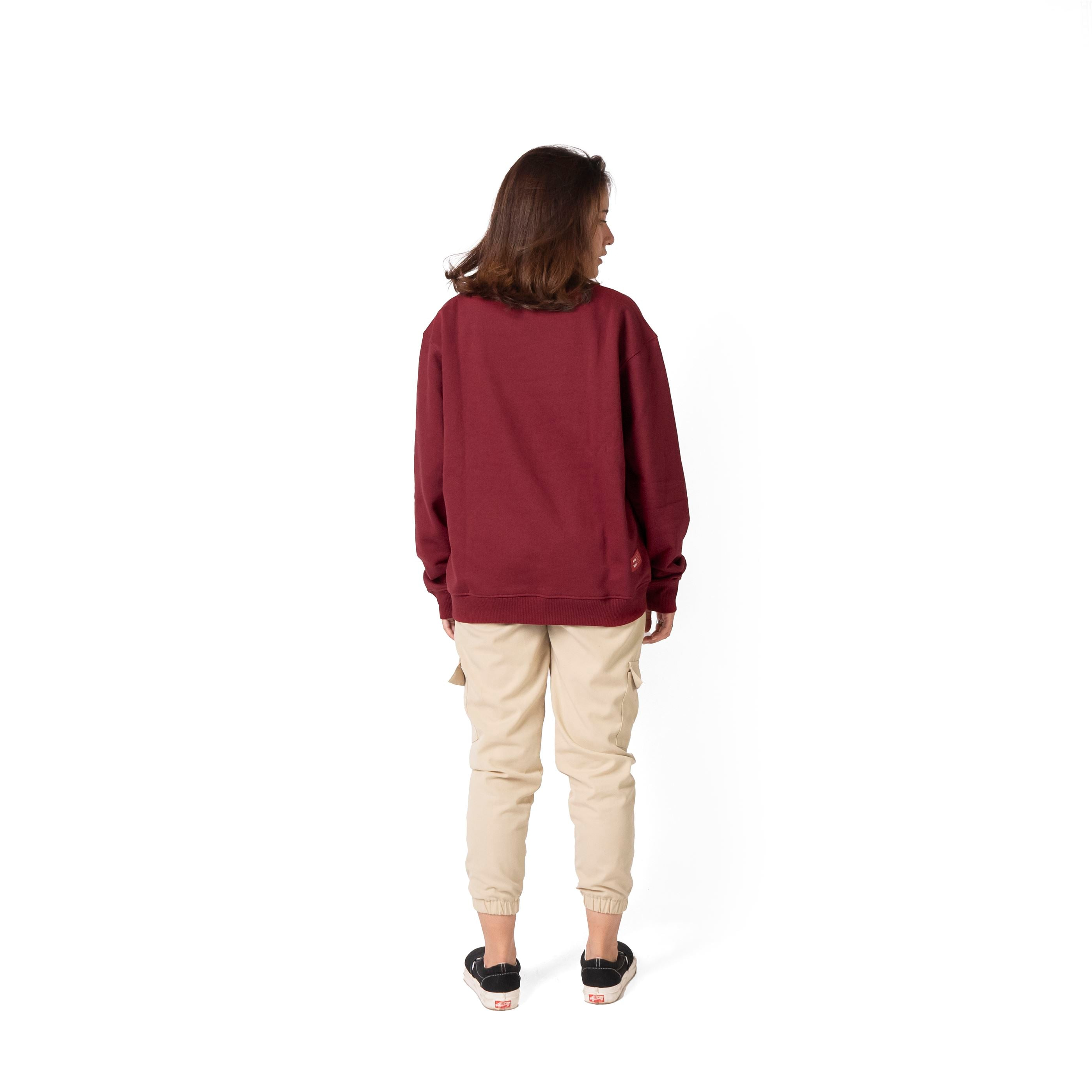 Easter Crewneck Sweater Maroon