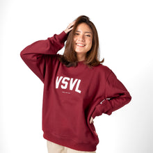 Load image into Gallery viewer, Easter Crewneck Sweater Maroon