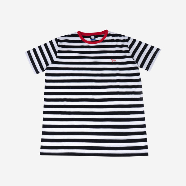 Flag Stripes Black Tshirt