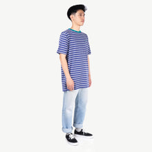 Load image into Gallery viewer, Terry Stripes Indigo Tshirt