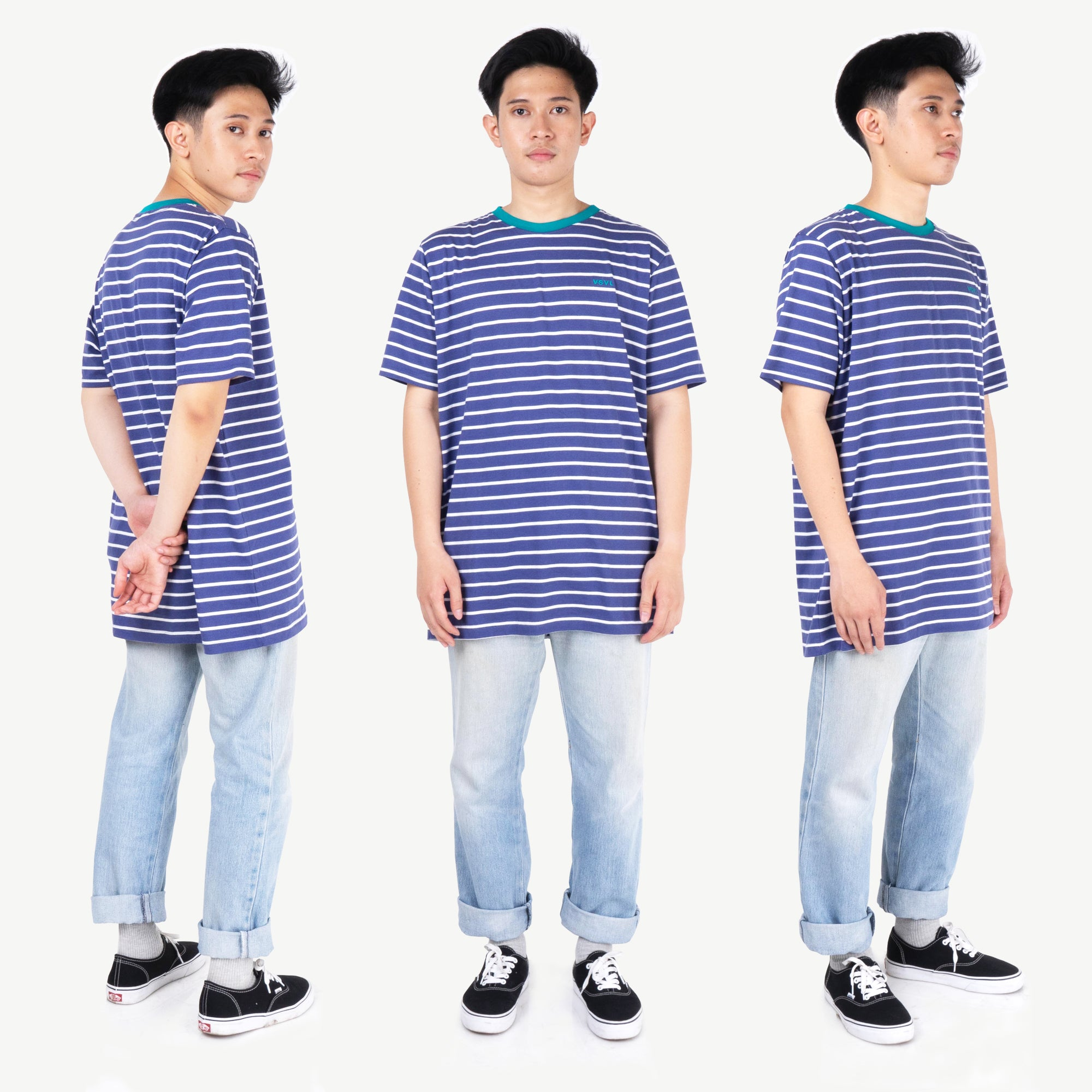 Terry Stripes Indigo Tshirt