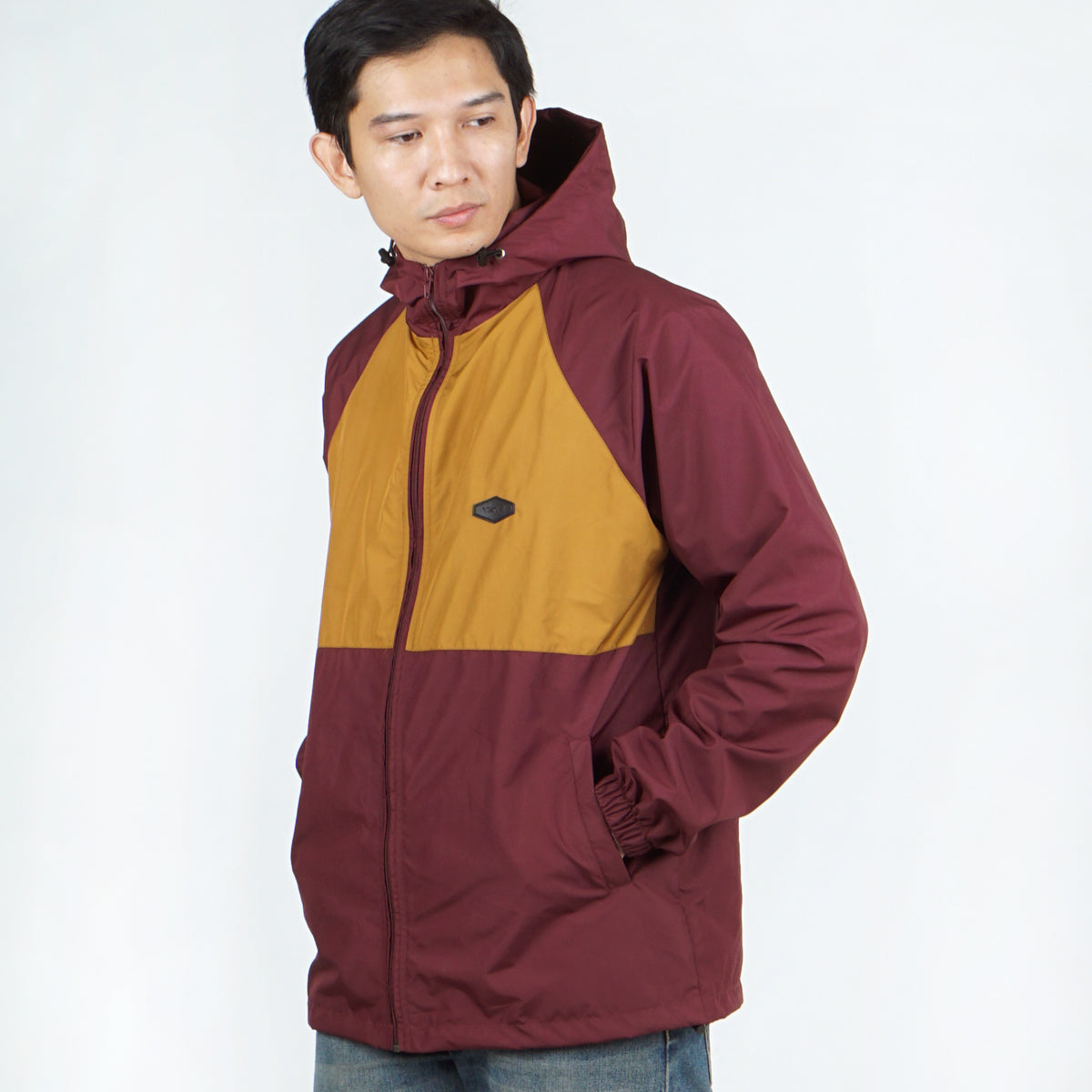 Visco Windbreaker Jacket Maroon Mustard