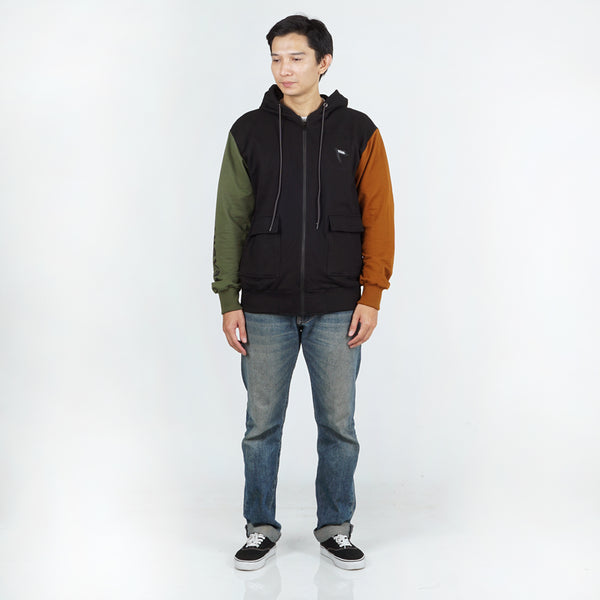 Kendo Sweater Black Olive Camel