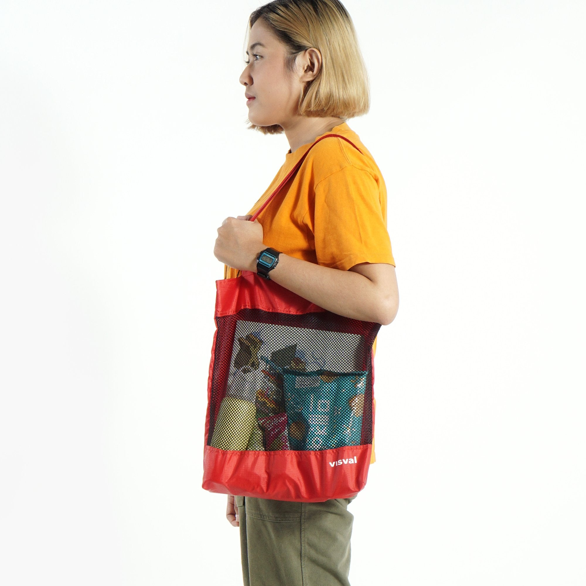 Kara Tote Bag Red