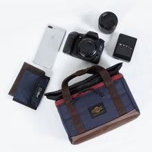 Load image into Gallery viewer, Trove Camera Cube Navy Brown