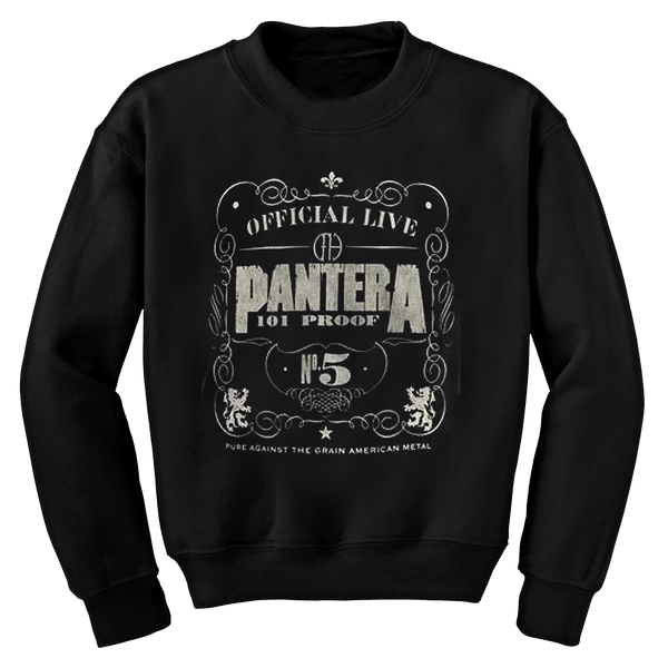 PANTERA NO.5 BLACK CREWNECK