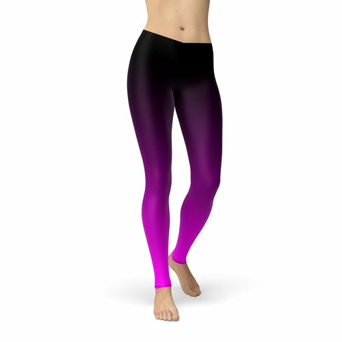 Black Pink Ombre Leggings