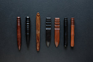 leather craft burnisher cocobolo ebony wood