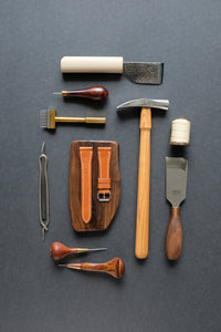 leather craft tools over lay hei crafted chartermade knives, vergez blanchard, barenia leather