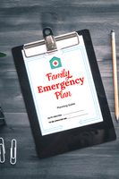 Printable Family Emergency Plan and Guide {6 pages}