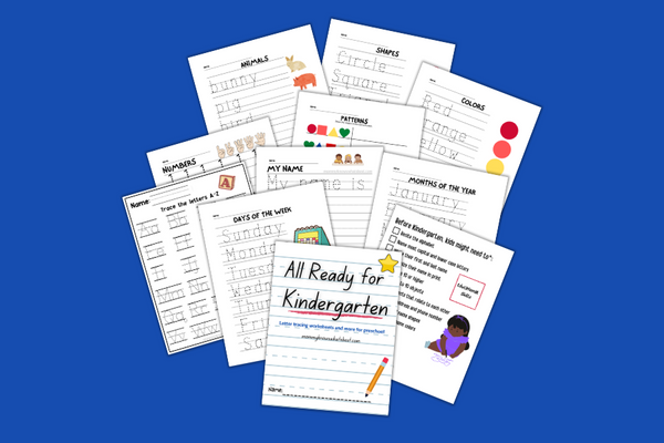 Printable Preschool Handwriting Sheets and More {80+ Pages}