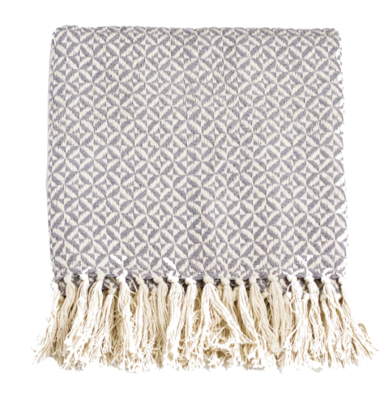 Two Tone Cotton Throw