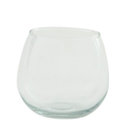Round drinking glass set of 2