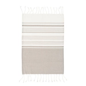 Turkish Hand Towel, Grey Set/2