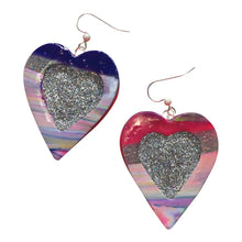 Load image into Gallery viewer, Limited Who? Heart Earrings