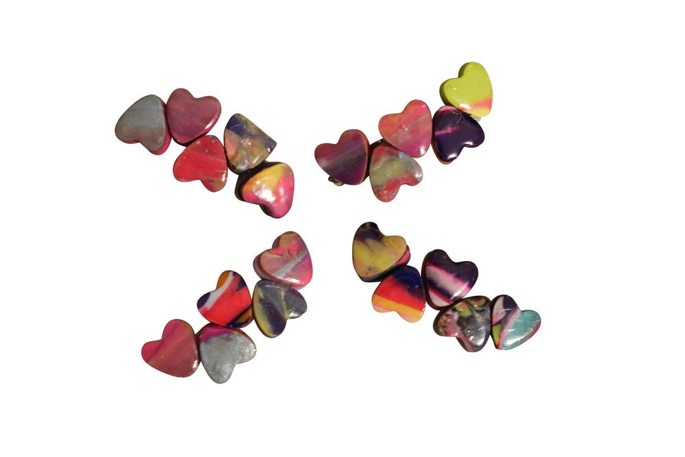 Chewy Heart Barrettes Mini