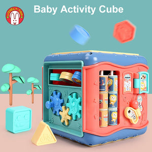 Baby Toys Activity Play Cube Six-Sided Box - sound and light optional