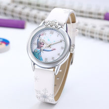 Load image into Gallery viewer, Elsa Watch Girls Elsa Princess Kids Watches Leather Strap