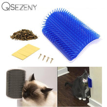 Load image into Gallery viewer, Pet Product For Cat Self Groomer Wall Brush Corner Cat Massage Self Groomer Comb Brush With Catnip Cat Rubs with a Tickling Comb