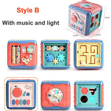 Load image into Gallery viewer, Baby Toys Activity Play Cube Six-Sided Box - sound and light optional