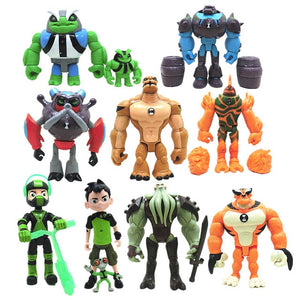 11pcs set Ben 10 PVC Toy Action Figures Models
