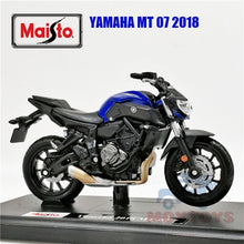 Load image into Gallery viewer, Maisto 1:18 Yamaha MT-07 2018 Diecast Model Motorcycle Toy Bike