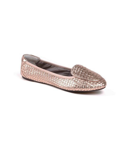 Clapham Foldable ballet flats pewter