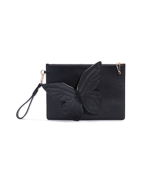 Sophia Webster Flossy Debossed butterfly pouchette