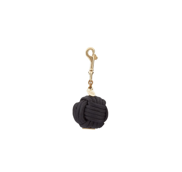 KNOTTED BAG CHARM - Black