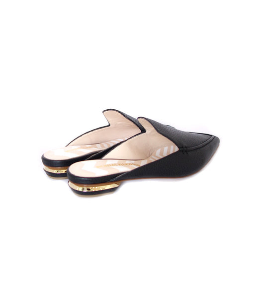 18mm Beya Flat Mule Black