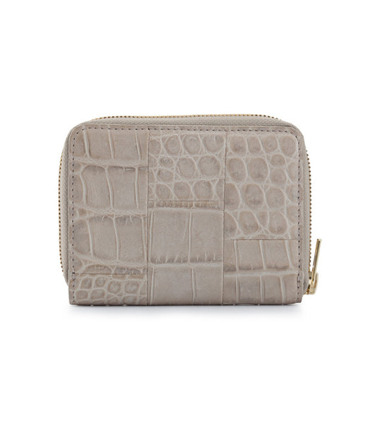 Mini Wallet - Croc Gull Grey