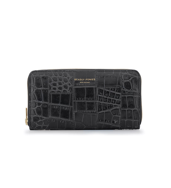 Mr Wallet - Croc Black