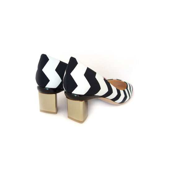 Briona Prism Pump - Multi Chevron