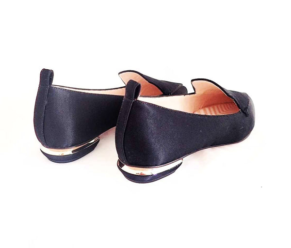 Beya Loafer, Black Satin