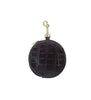 Pom Pom Purse - Croc Black