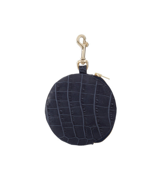Pom Pom Purse - Croc Nightshade
