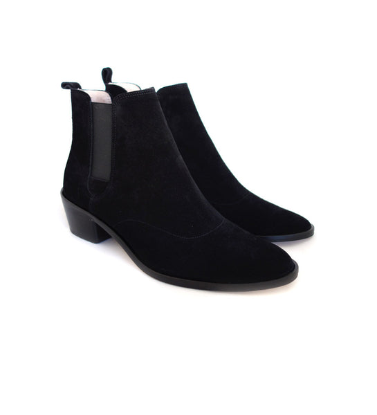 Auguste Boot - Black Suede