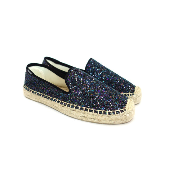 Platform Smoking Slipper - Disco Glitter