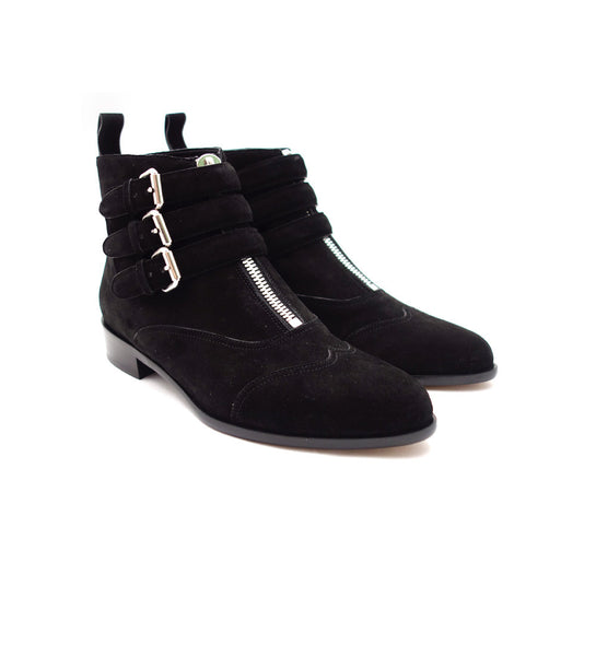 Early Boot - Black Suede