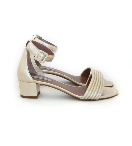 Virginia - Mid Heel Champagne