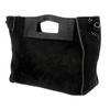 Cut Out Handle Tote - Black