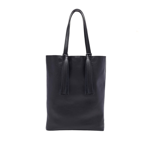 Cruise Tote (Nappa/Tassel), black, one size