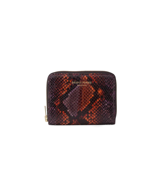Mr Mini Wallet Python Lavender